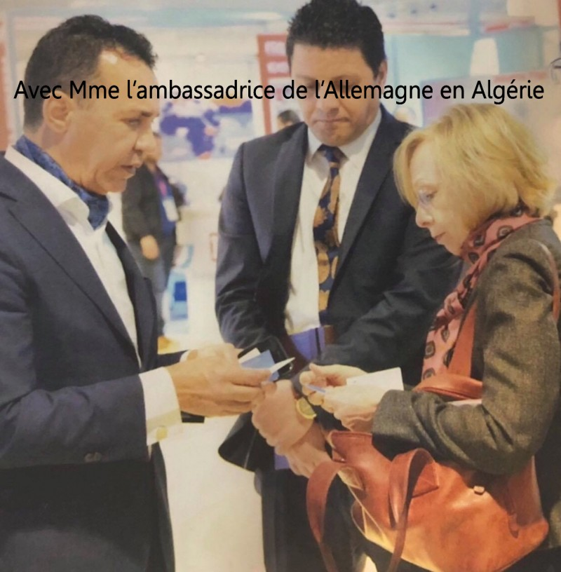 Avec Mme l'ambassadrice de l' Allemagne en Algerie