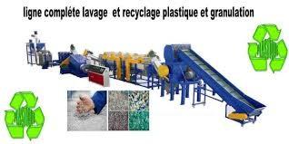 Recyclage plastique PET PEHD PP en granulée ou en flocons