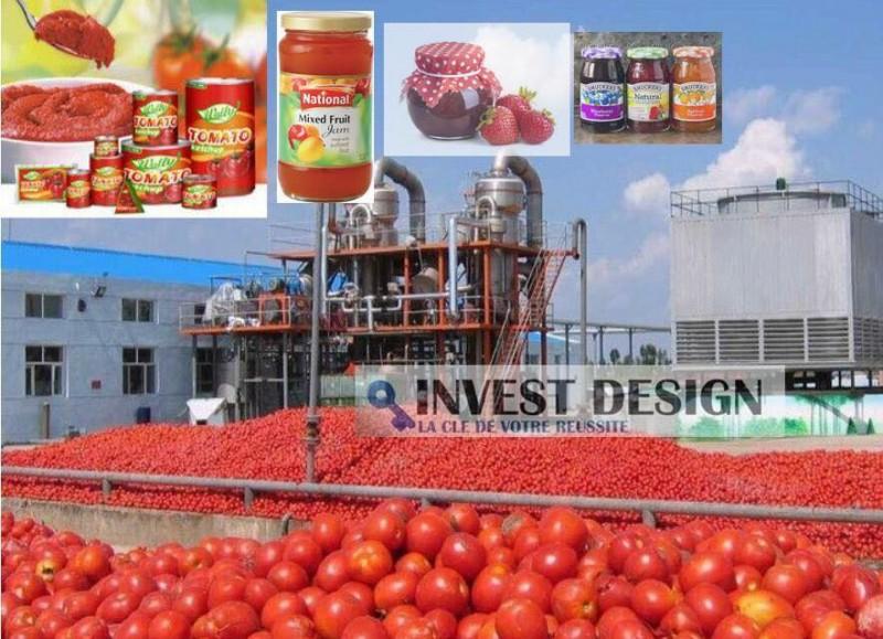 Lignes de production pour transformation de la Tomate en conserve  , Confiture