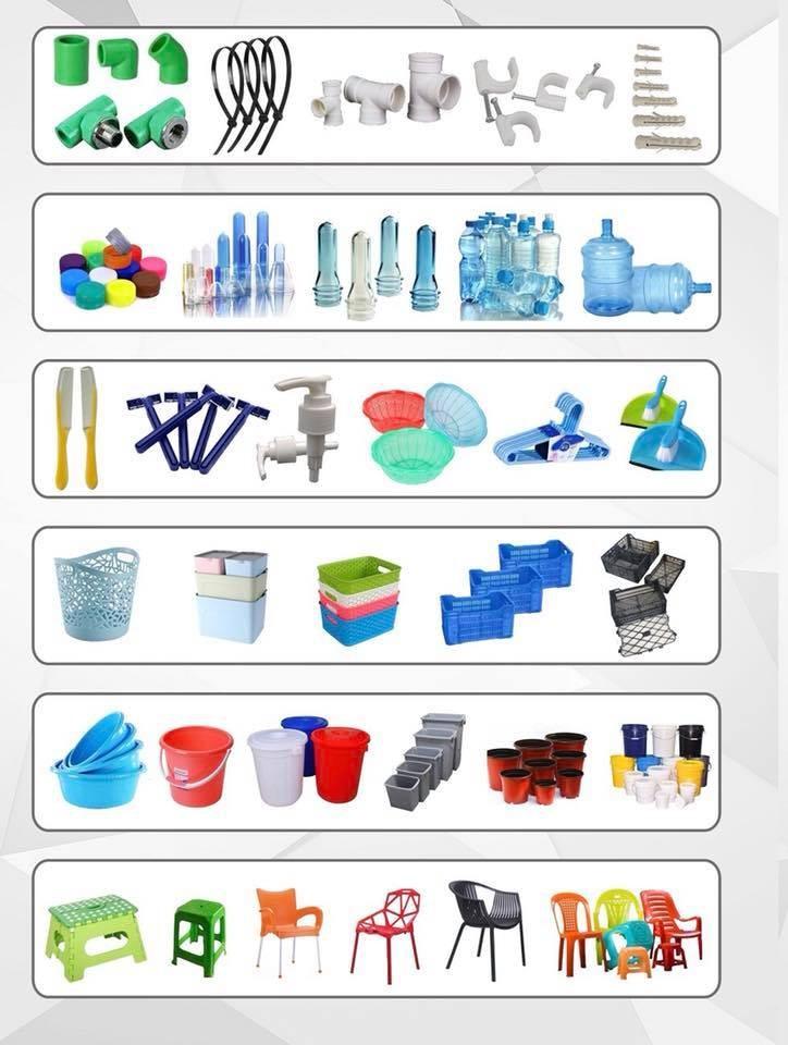 Machines d'injection de tout type de produits en plastique boites, bassines,caisses,bacs,cintres, chaises, tables